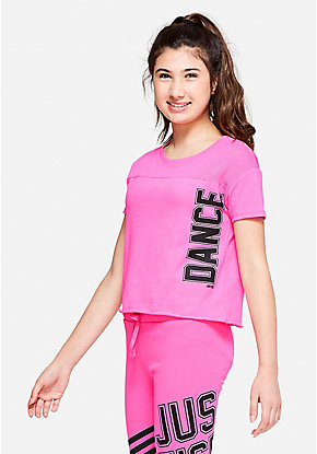Dance Mesh Shoulder Tee