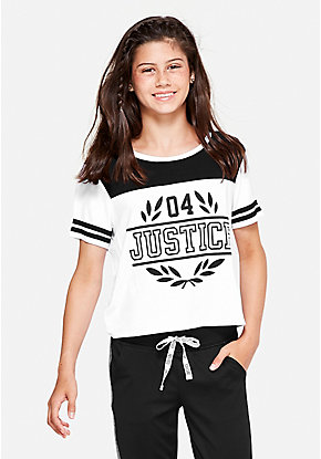 Logo Crop Football Tee