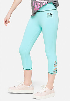 Lattice High Waist Crop Leggings