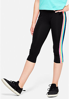 Rainbow Stripe Crop Leggings