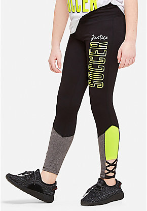Soccer Color Block High Waist Leggings
