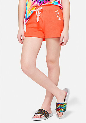 Lace-Up French Terry Dolphin Shorts