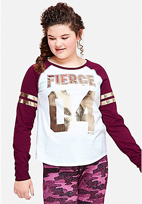 Shine Long Sleeve Football Tee