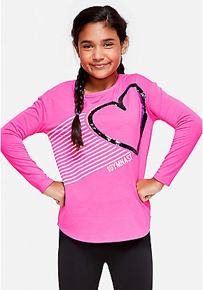Gymnastics Flip Sequin Long Sleeve Tee