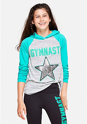 Gymnastics Hooded Long Sleeve Tee