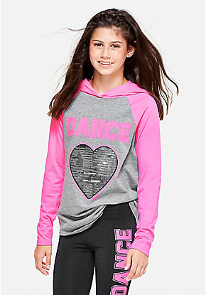 Dance Hooded Long Sleeve Tee
