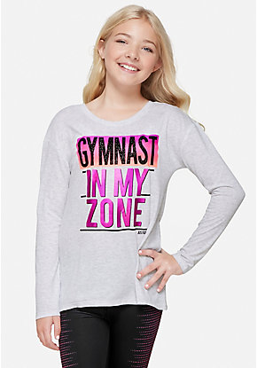 Gymnastics Cross Back Long Sleeve Tee