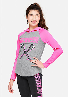 Lacrosse Hooded Long Sleeve Tee