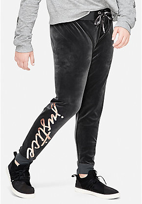 Velour Lace Up Joggers