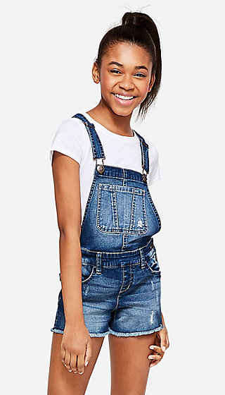 Destructed Denim Shortalls