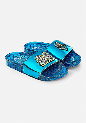 Mermaid Glitter Slide Sandals