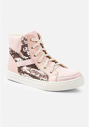 Flip Sequin High Top Sneaker