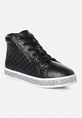 Gltter Quilted High Top Sneaker