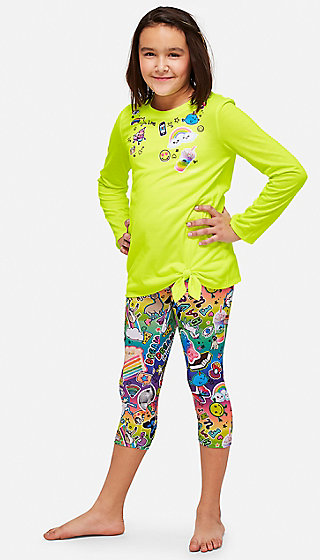 Sticker Capri Pajama Set