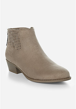 4d531cf6ce7d Perforated Ankle Bootie