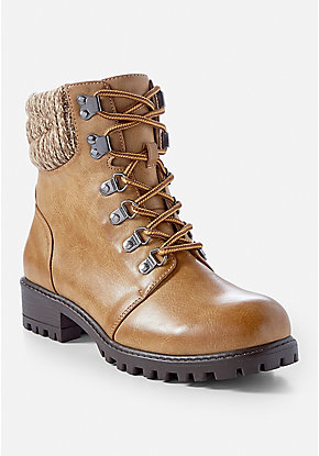 Sweater Combat Boot