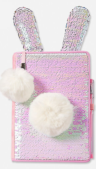 Bunny Flip Sequin Journal Justice