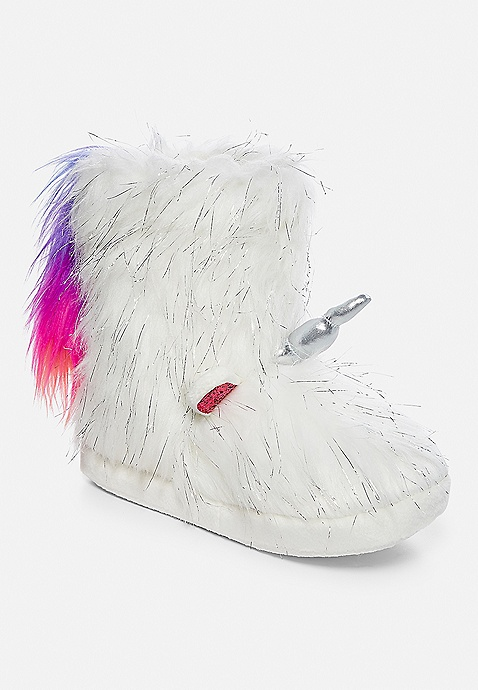 buy cheap new style catch Unicorn Slipper Boots | Justice