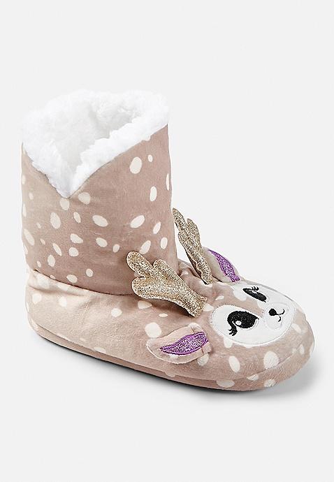 2da8119e7ba86 Reindeer Slipper Booties