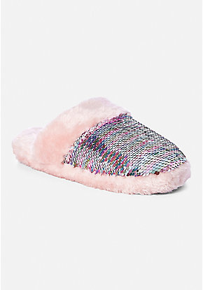 Flip Sequin Slippers