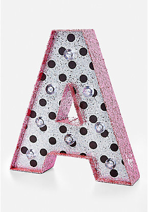 Polka Dot Initial Marquee Light