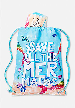 Save All the Mermaids Towel-in-Bag