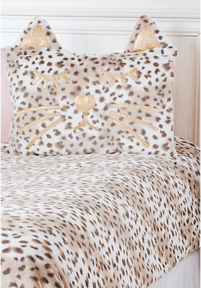 Cheetah Faux Fur Comforter Set   Twin Size