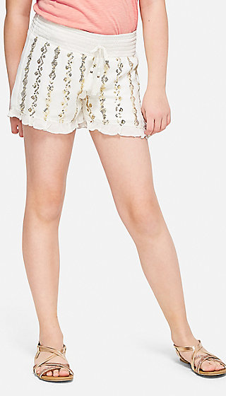 Mermaid Shimmer Ruffle Shorts