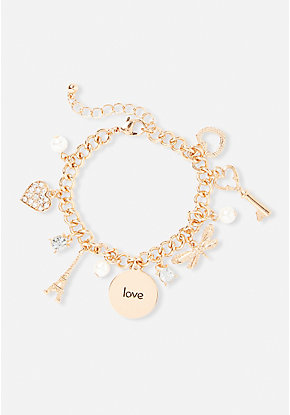 Paris-inspired charm bracelet