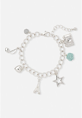 Paris Photo Charm Bracelet
