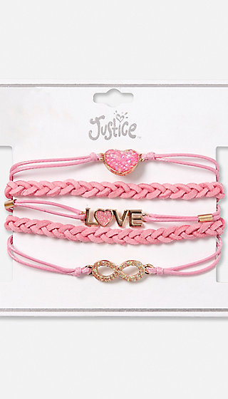 Braided Love Charm Bracelet