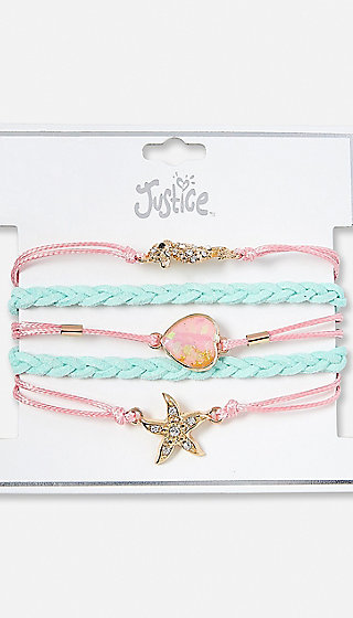Braided Mermaid Charm Bracelet | Justice