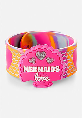 Mermaids Love Charm Slap Bracelet