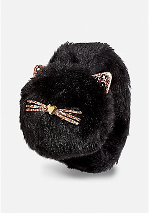 Black Cat Pompom Slap Bracelet