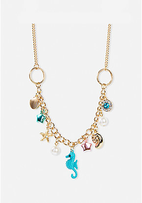 Sea Creatures Charm Necklace