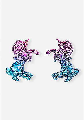 Ombre Unicorn Stud Earrings