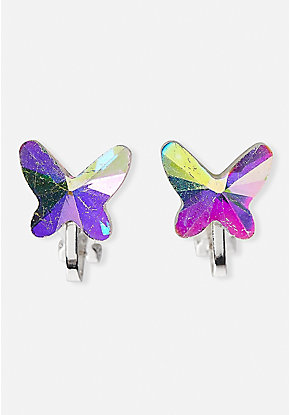 Holo Butterfly Clip-On Earrings