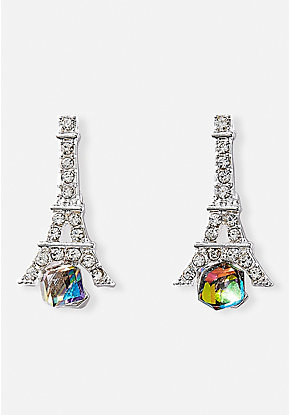 Eiffel Tower Prism Stud Earrings