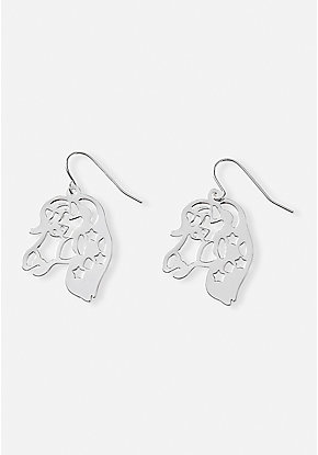 Filigree Unicorn Drop Earrings