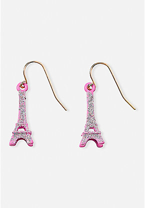 Pink Eiffel Tower Earrings
