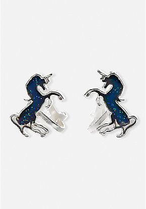 Mood Unicorn Clip On Earrings