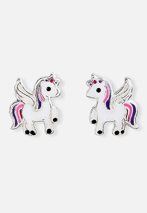 2997431e1 Unicorn Sterling Silver Stud Earrings   Justice