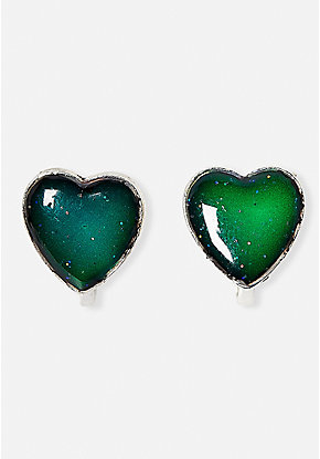 Heart Mood Clip-On Earrings
