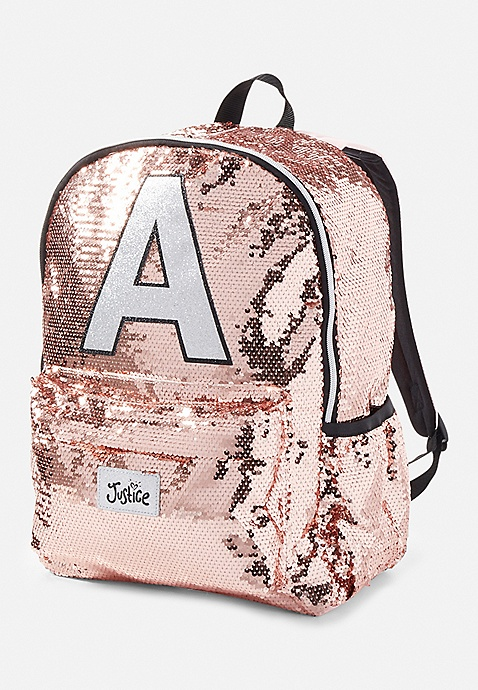 Sequin Sparkle Initials S Backpack