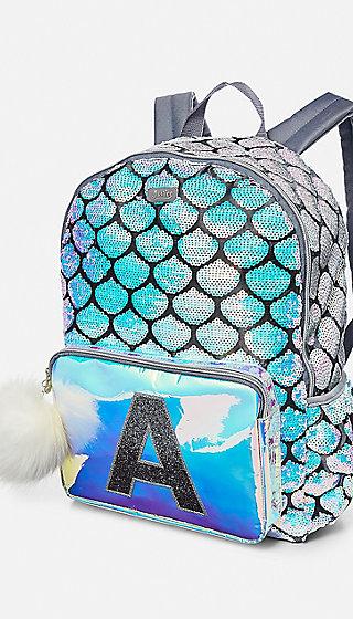 Mermaid Initial Backpack Justice
