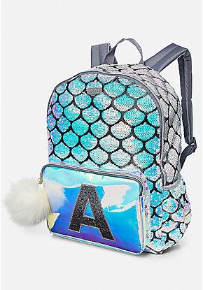 Mermaid Initial Backpack
