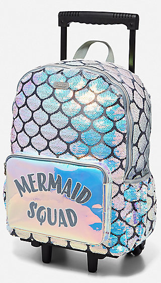 Mermaid Rolling Backpack