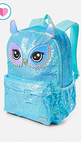 Owl Flip Sequin Backpack