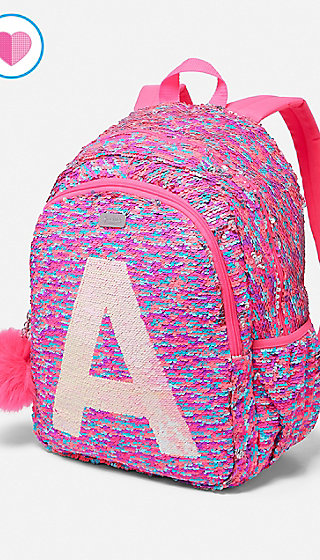 Flip Sequin Initial Backpack Justice