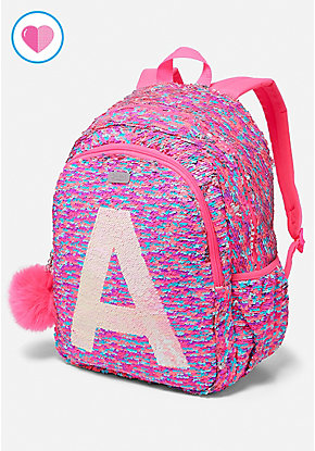 Flip Sequin Initial Backpack